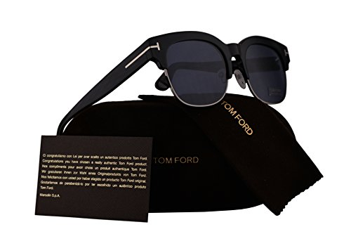 Tom Ford FT0597 Harry Sunglasses Shiny Black w/Blue Lens 01V - Tom Sale Sunglasses Ford
