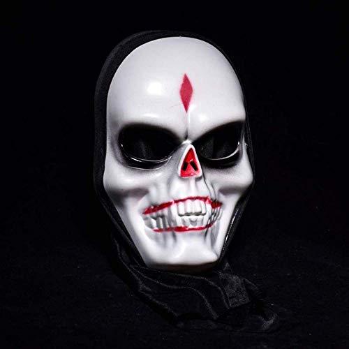 Wetietir Festival Mask Halloween Super Horror Skull Devil Mask Makeup Party Atmosphere Performance Haunted House Decoration Props Costume Mask]()
