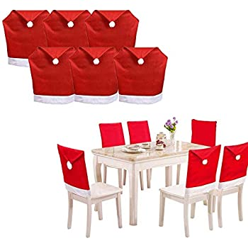 Amazon.com: Christmas Non Woven Hat Chair Decor Dinner Sets ...