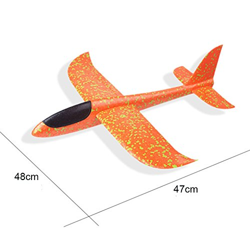 Hand-throwing Airplane Throwing Glider Aircraft Inertial Soft Foam Airplane Roundabout Trick Airplane Model Toys for Kids by Babyrise