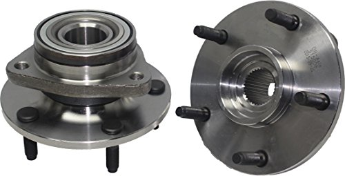 Detroit Axle - (Both) Front Wheel Hub and Bearing Assembly For - 1994-1999 Dodge Ram 1500 4x4 5-Lug [NO ABS] ()