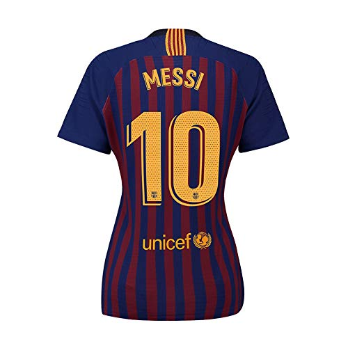 Womens Messi Jersey Barcelona 10 Home 2018/19 Soccer Lionel Sizes Blue (Small) (Barcelona Lionel Messi Jersey)