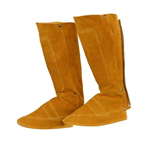 Baoblaze Long Welding Shoe Spats Protectors Boot Cover Welder Working Protective Tool