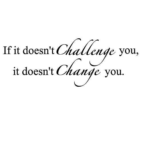 Inspirational Wall Transfer (BoBin If it Doesn't Challenge You. It Doesn't Change You GYM Fitness Mural Quote Saying Inspirational Vinyl Wall Sticker Decals Transfer Words Lettering Decor Uplifting(Challenge and change))