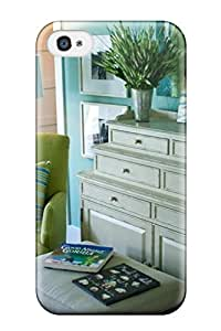 Fashionable Style Case Cover Skin For Iphone 4/4s- Blue Children8217s Room With White Dresser 038 Green Chair