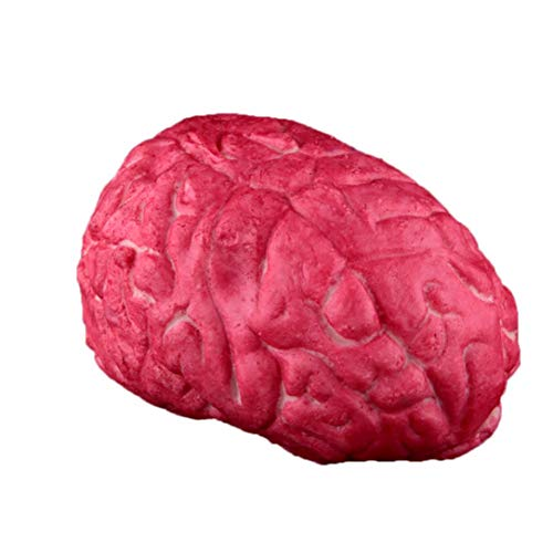 Halloween Horror Props, Fake Organ Prank Toys,Scary Body Parts Heart and Brain Halloween Scary Decorations Fake Bloody Body Parts Props(Brain) (red)
