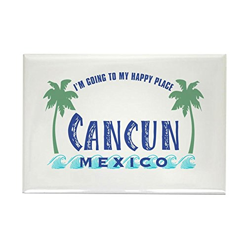 CafePress Cancun Happy Place - Rectangle Magnet Rectangle Magnet, 2