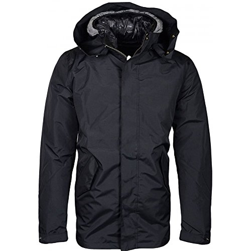 Franklin & Marshall 127AN Hooded Zip Reversible Down and Parka 2 in 1 Jacket M Black/Grey - Reversible Down Parka