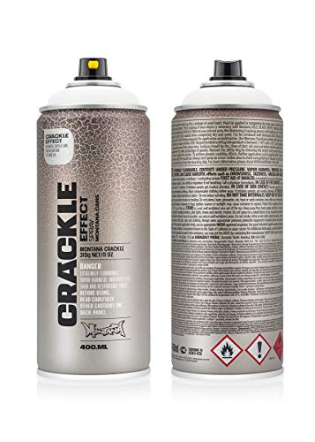 Montana Cans MXE-C9010 Montana Crackle 400 ml Color, Pure White Spray Paint,