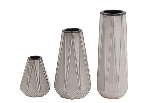 Benzara 59915 Antique Colonial Fabulous Ceramic Vase Set of 3 by Benzara