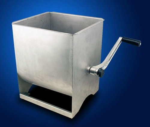 New-Commercial-Stainless-Steel-Hand-Manual-Meat-Sausage-Mixer-50LBS-Tank