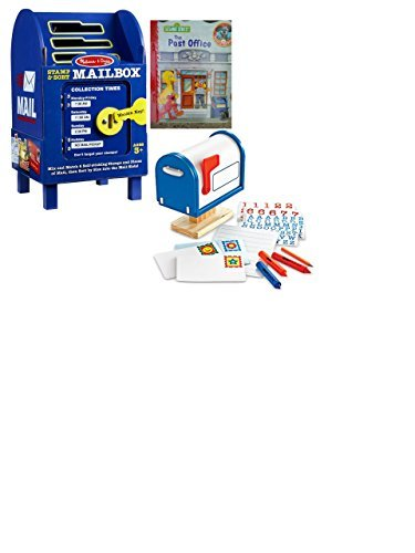 Melissa & Doug Deluxe Mail and Stamps Postal Learning Bundle with BONUS Post Office book
