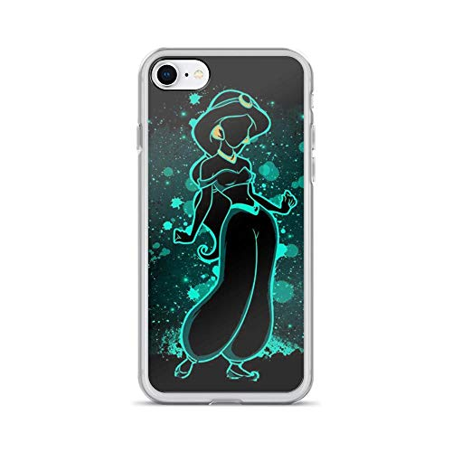 (iPhone 7/8 Pure Clear Case Cases Cover The Agrabah Jasmine Princess Alladin)