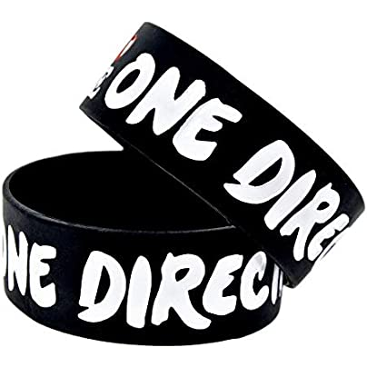 Silicone Wristbands with Sayings One Direction Borm Love Rubber Wristbands for Men Silicone Bracelets for Kids Sports Set Pieces Black Estimated Price £20.66 -