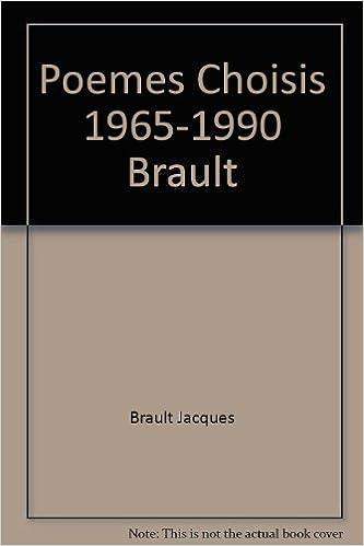Livre gratuits Poemes Choisis 1965-1990 Brault pdf