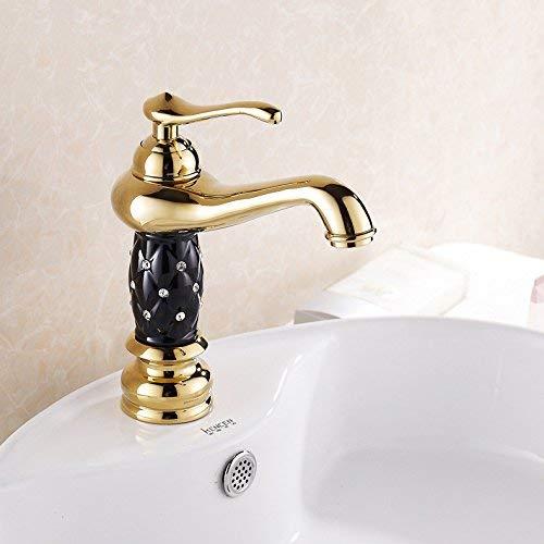 44 Oudan Basin Mixer Tap Bathroom Sink Faucet The golden basin Faucet 17 (color   28)