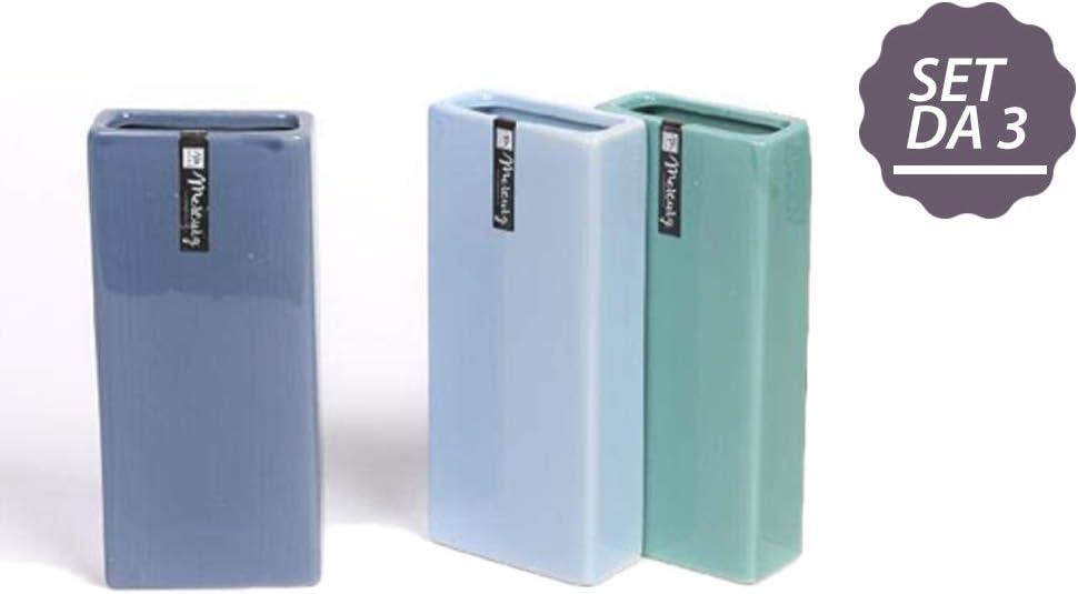 CLICSON/® ME30244 Set 6pz Evaporatore in Ceramica Bombati Lisci cm.18x8x4 Assortiti