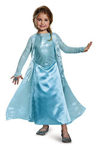 Elsa Sparkle Deluxe Frozen Disney Costume, (Most Popular Kids Costumes)