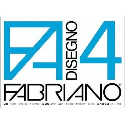 Fabriano-05200597-Disegno-4-Set-20-Fogli-Liscio-24-x-33-cm-220-gMq