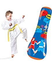 Hoovy Inflatable Punching Bag for Kids: Free Standing Boxing Toy for Children, Air Bop Bag for Boys & Girls, Exercise & Stress Relief