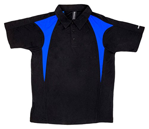 Mens Reebok Royal Match - Reebok Men's Playdry Prism Performance Polo Shirt, Black/Royal, XXXXX-Large