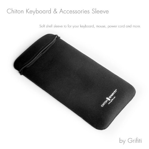 Keyboard Solidtek Mouse (GRIFITI Chiton Slim 12 Sleeve for 12 Inch Wireless Keyboards Includes Extra Pocket)