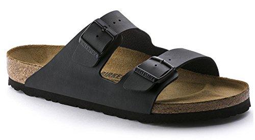 Arizona 'Narrow Fit' Women's (Cork-Footbed) Sandal, Synthetic Birko-Flor, Matte Black [New Style] (38 N EU / 7-7.5 2A(N) US) by Birkenstock