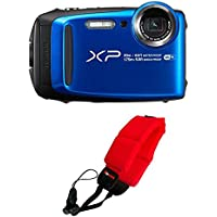 Fujifilm FinePix XP120 Waterproof Digital Camera (Blue) & Focus Camera Floating Strap