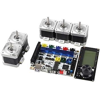 Semoic Placa Base de Impresora 3D F5V1.2 + 12864 LCD + 42 Motor ...