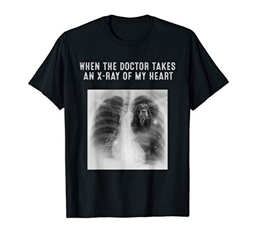 X-Ray Of My Heart GORDON SETTER Dog Gifts T-Shirt