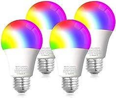 Smart WiFi Alexa Light Bulbs, SAUDIO LED RGB Color Changing Bulbs, Works with Alexa, Echo, Google Home & Siri, 2.4GHz...