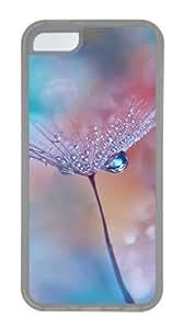 Customized Case nature dandelions 1 2 TPU Transparent for Apple iPhone 5C