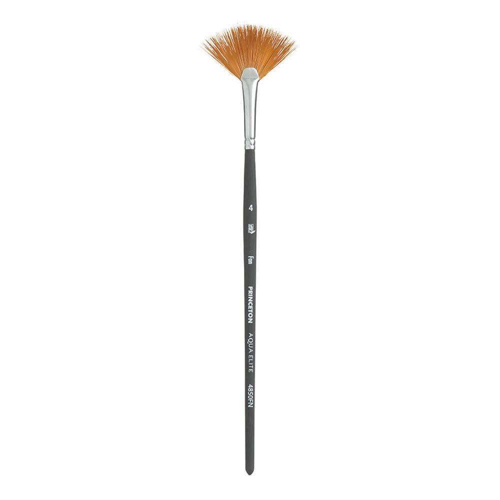 Princeton Aqua Elite NextGen Artist Brush, Series 4850 Synthetic Kolinsky Sable for Watercolor, Fan, Size 4