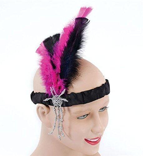 Bristol Novelty BA165 Flapper Headband, Pink, One
