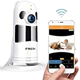 Wifi Camera, FREDI HD 1080P Wireless Baby Monitor Wifi Security Wide Viewing Angle IP Camera with IR Night Vision/2-way Talking/Motion Detection Loop recording(Without SD Card) (White)