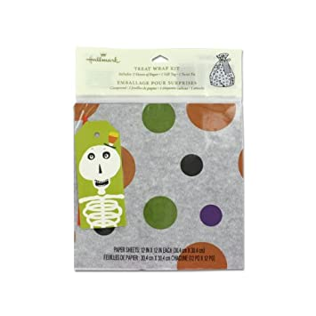 amazon com halloween themed gift wrap kit pack of 96 everything else