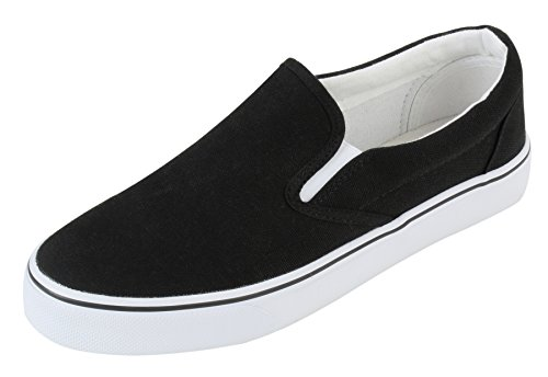 UJoowalk Womens Canvas Slip on Fashion Sneaker Skate Shoe