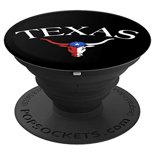 Vintage Big Texas Longhorn Bull Flag - PopSockets Grip and Stand for Phones and Tablets ()