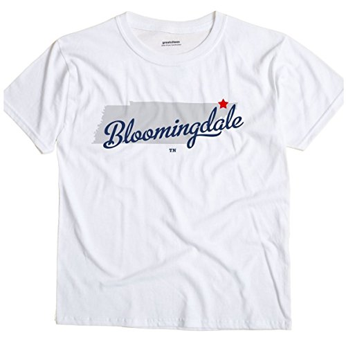 Bloomingdale Tennessee Tn Map Greatcitees Unisex Souvenir T Shirt