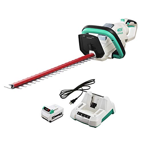 LiTHELi 40V 21 inches Cordless Hedge Trimmer with 2.5AH Battery and Charger