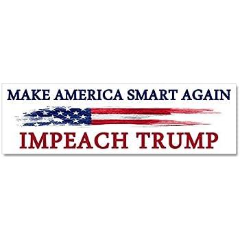 Cafepress make america smart again impeach car magnet 10 x 3 magnetic bumper