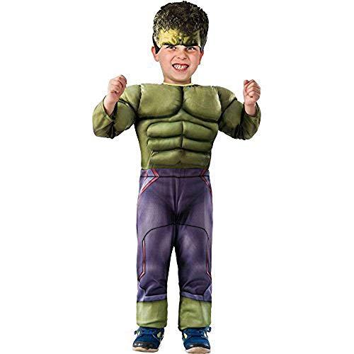 Marvel Avengers Hero Hulk Muscle Chest Jumpsuit Toddler Boys Child Costume 2T ()