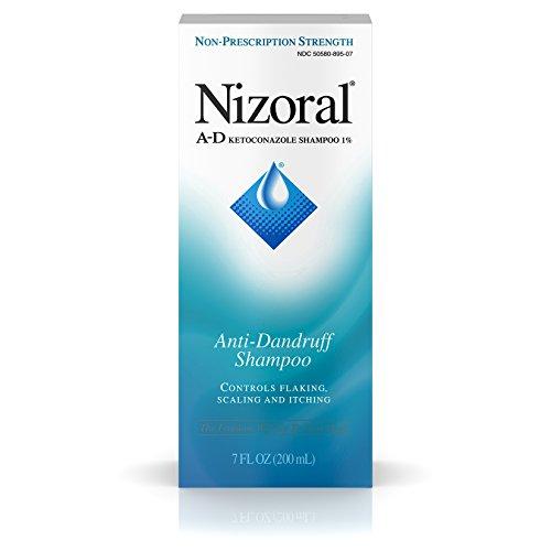 Nizoral A-D Champú anticaspa con ketoconazol al 1%, champú seco para el cuero cabelludo para el control y alivio de la caspa, 7 fl. onz