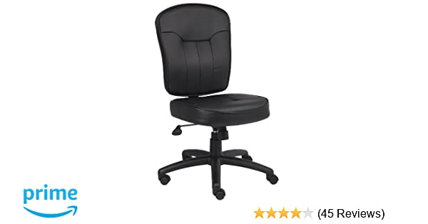amazon com boss leather adjustable task chair without arms black