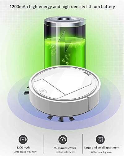 FCHJJ Robot Aspirapolvere Intelligente 3 in 1 Plastica Automatico Spazzare Vacuuming Aspirazione Potente Riduzione del Rumore Intelligente 90 Minuti di Durata Adatto a Pavimenti