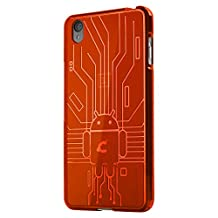 OnePlus X Case, Cruzerlite Bugdroid Circuit Case for the OnePlus X - Retail Packaging - Orange