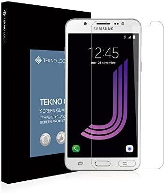 Película Cristal de protección de pantalla Vidrio Templado Samsung Galaxy J7 Super resistente [auténtico 9H +, irrompible, inrayable] cristal alta transparencia ...