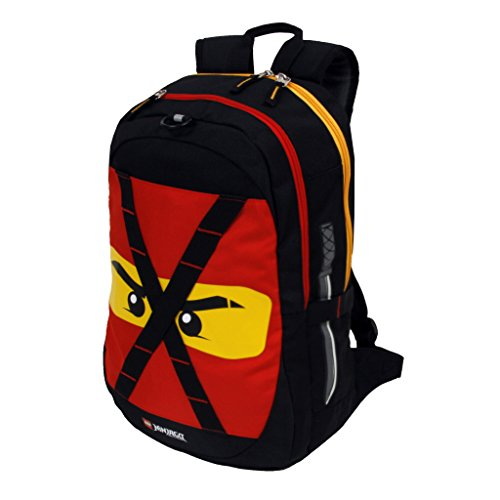 Price comparison product image Boys Red LEGO City Ninjago Lightening Backpack Fast Jay The Ninja Warrior Themed