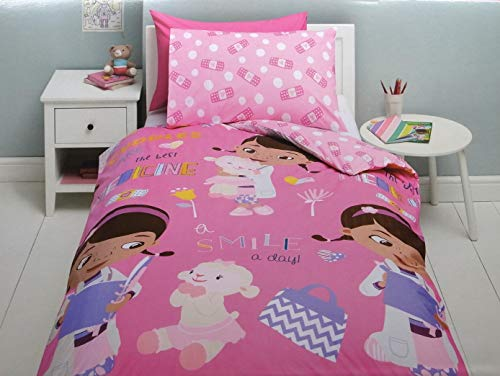 Disney x Tesco Kid's Single Duvet Cover and Pillowcase Set (Doc