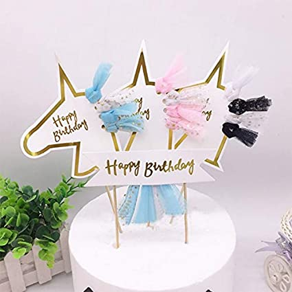 Amazoncom Hatabo Decoration Licorne Baby Shower Favors Party